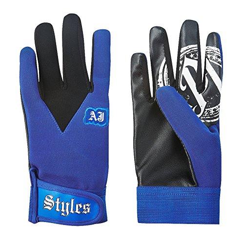 AJ Styles P1 Logo Pro Wrestling Fight Gloves - Royal by AJ Styles