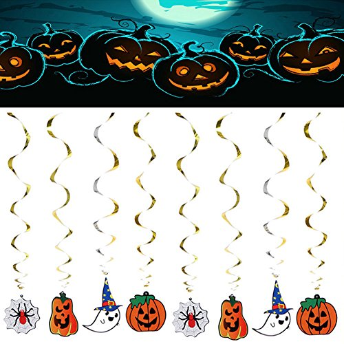 UNAKIM --Halloween Party Decoration Funny Hanging pumpkin ghost Paper Decoration (Yoshi Custome)
