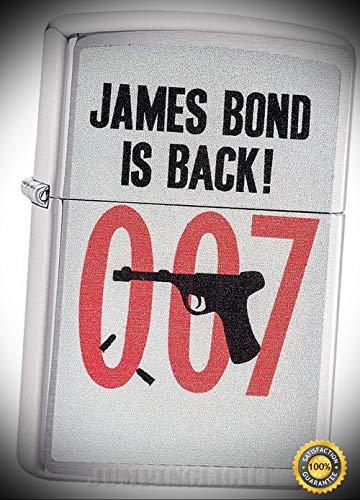 Lighter James Bond is Back 01277 - Premium Windproof Lighter Fluid (Comes Unfilled) - Made in USA! ()