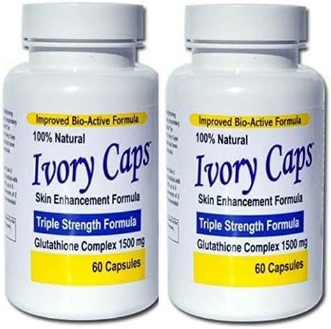 (Pack of 2) Ivory Caps Skin Whitening Lightening Max Glutathione 1500mg Pills