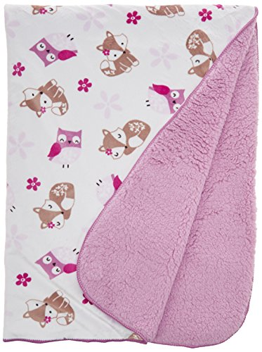 Bedtime Originals Sherpa/Velour Blanket, Lavender