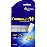 Compound W Freeze Off Wart Removal System - Effectively Removes Warts in as Few as One Treatment - 8 Disposable Applicators
