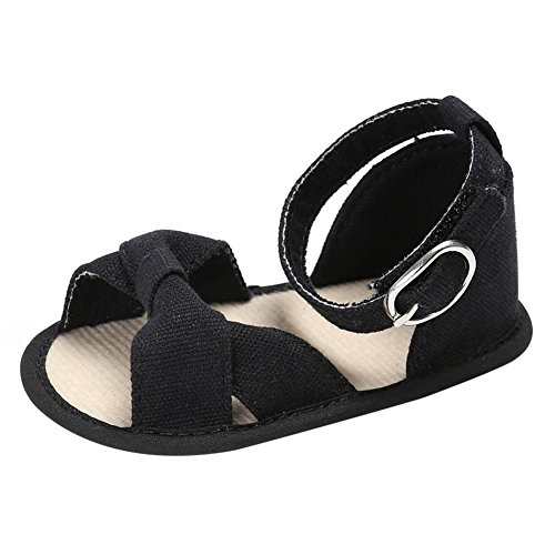 Weixinbuy Toddler Baby Girls Bowknot Decor Soft Sole Anti-Slip Sandals Summer Shoes