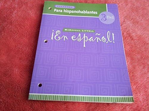 ¡En español!: Para hispanohablantes (cuaderno) Level 3 (Spanish Edition)