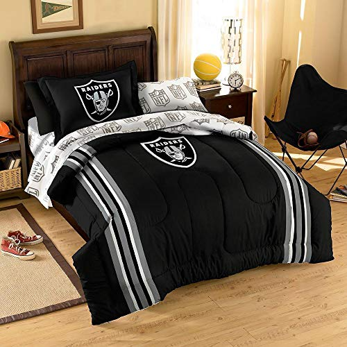 NFL Oakland Raiders Twin/Full Size Comforter with Sham Set