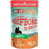 LonoLife Low-Sodium Grass-Fed Beef Bone Broth Powder with 10g Protein, Stick Packs, 10 Count