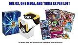 Pokemon Ultra Rare lot - 5 Random Cards All Ultra Rare! 1 GX 1 MEGA 3 EX Guaranteed! Includes Official Pokemon Deck Box! Golden Groundhog Storage Box!