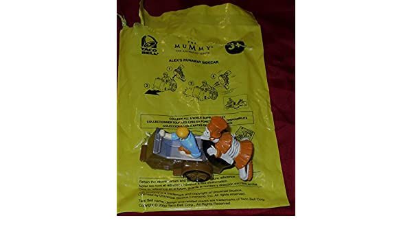 Amazon.com: 2002 Taco Bell Kids Meal Toy The Mummy The Animated Series Alexs Runaway Sidecar: Toys & Games
