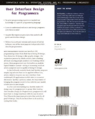 User Interface Design for Programmers: Avram Joel Spolsky ...
