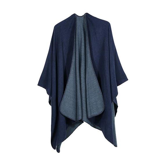 Linlink Mujeres Invierno Punto de Cachemira Poncho Capes Chal Chaquetas Abrigo suéter: Amazon.es: Ropa y accesorios