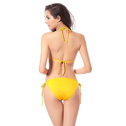 Luckycat 2018 Seaside Beach Colorful Choose Womens Sujetador Push-up Acolchado Bikini Set Traje de baño Traje de baño Traje de baño Ropa Interior 2 Piezas ...