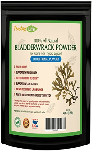 Bladderwrack powder supplement Seaweed Kelp Iodine rich thyroid support for hormone balance & glandular support | Made in USA