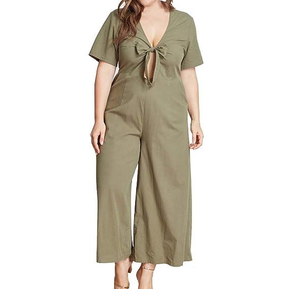 Mxjeeiomonos Mujer Verano Pantalones Largos Vestir 2019