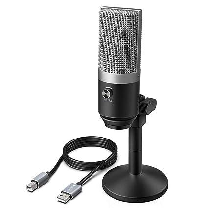 Amazon.com: Micrófono de grabación de condensador, micrófono ...
