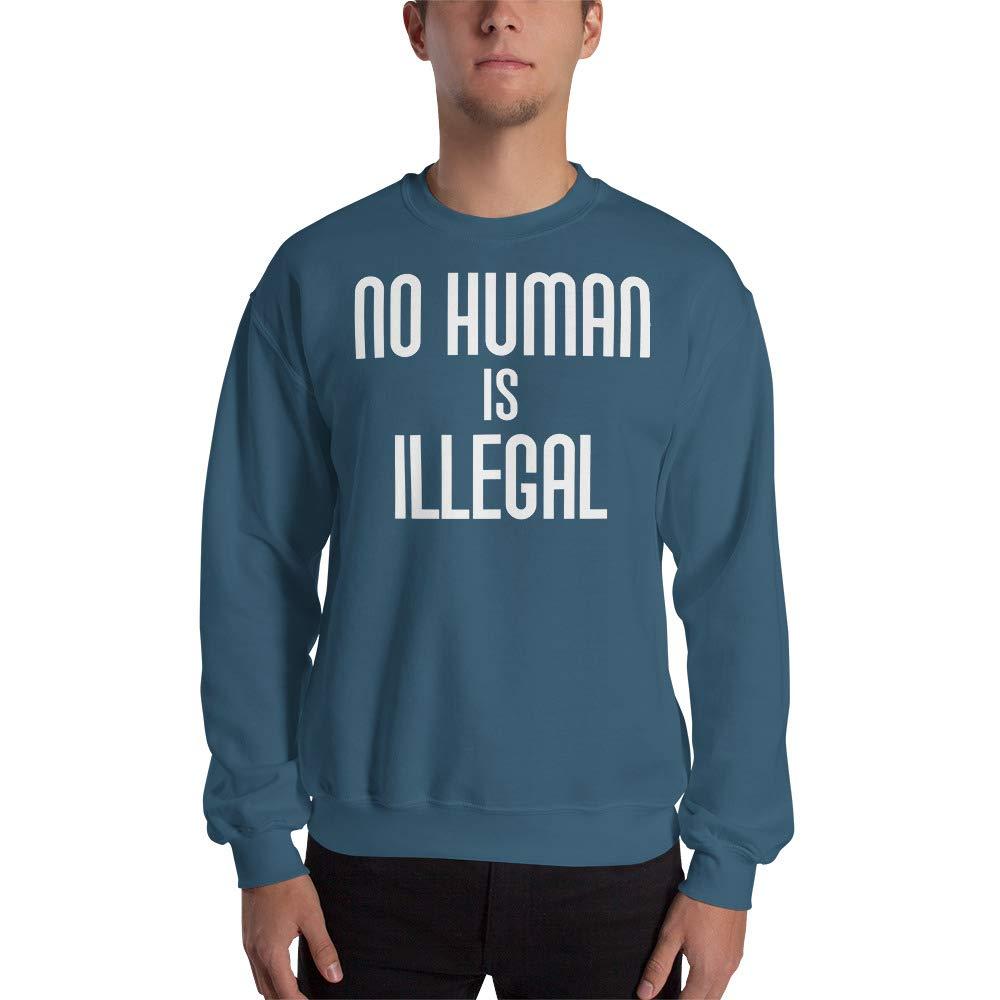 Sweatshirt Indigo Blue No Human is Illegal