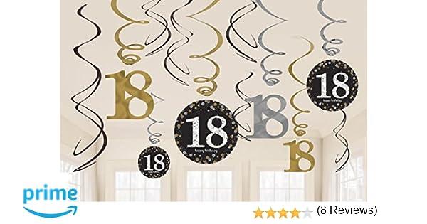 Amscan 9900558 - Pack de decoración para 18 cumpleaños