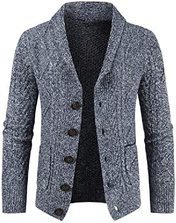 VITryst メンズシングルブレスト厚いカーディガンファッションパーカーパーカージャケット