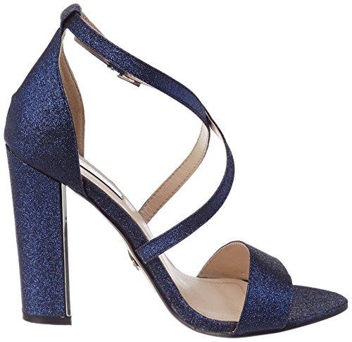 Quiz Women's Blue Glitter Peeptoe Ankle Strap Sandals Blue (Blue) q6V66Bt0
