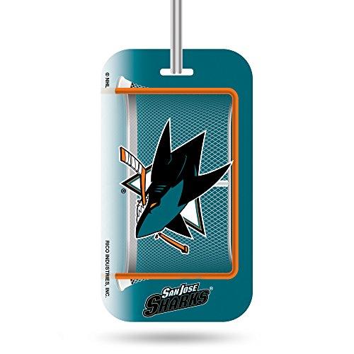 Rico Industries NHL San Jose Sharks Plastic Team Luggage Tag