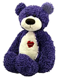 "Purple Tender Teddy Bear 12"" by First and Main"