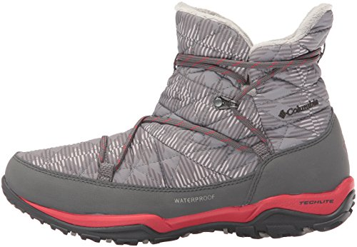 Columbia Women's Loveland Shorty Omni-Heat Print Snow Boot, Light Grey/Burnt Henna, 7.5 B US by Columbia (Image #5)