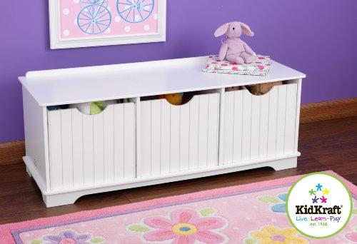 KidKraft Nantucket Storage Bench - White - White Childrens Bench Shopping Results