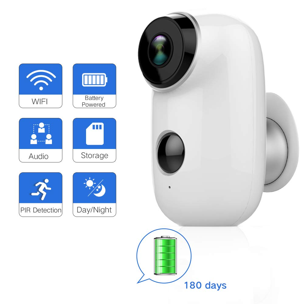SDETER Outdoor Security Camera,Wireless Rechargeable Battery Powered Surveillance System,WIFI IP Hd Cctv Video House Monitor by SDETER