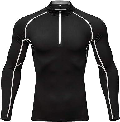 Camisa Ciclismo para Hombres Camisa térmica con Cremallera de Manga Larga: Amazon.es: Ropa y accesorios