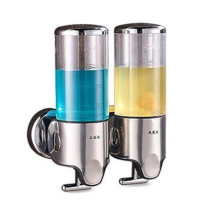 Soap dispenser Dispensador de jabón, Bomba de jabón Doble Manual Distribuidor montado en la Pared