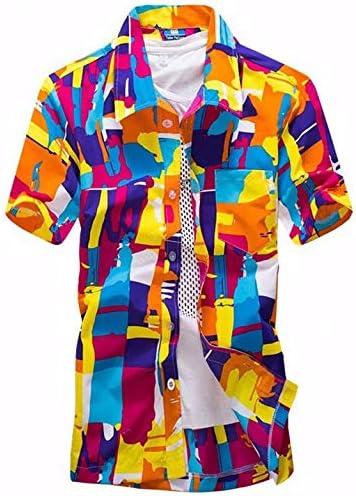 LFNANYI New s Camisa de Playa Hombres Camisa Hawaiana Playa de Moda de Ocio Camisa Floral Tropical Playa Hawaiana 5XL 5XL: Amazon.es: Deportes y aire libre