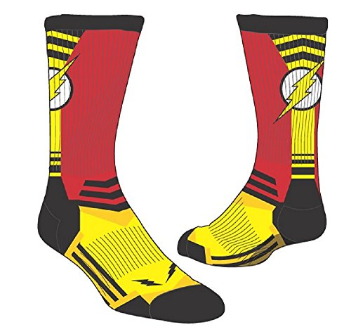 Flash Bolt Logo Men's Active Crew Socks DC (Dc Logo Socks)
