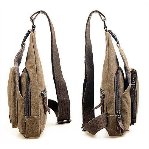 hombro bolso de un libre pecho Eslinga al aire marrón bolso bandolera 0qWn0S8OP