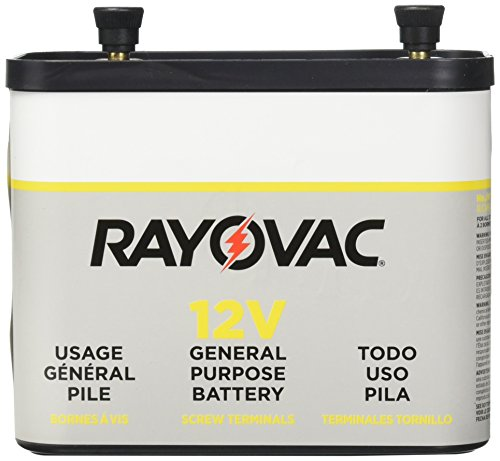 RAYOVAC General Purpose Lantern Battery, 12 Volt, Screw Terminals, 926C (Best Dry Cell Battery)