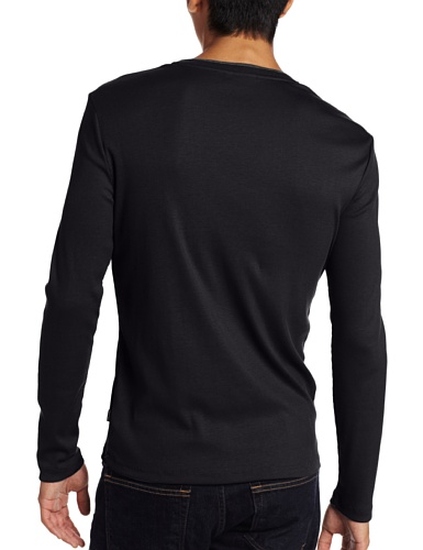 f54c776c6b5 Calvin Klein Men s Long Sleeve Ribbed V-Neck T-Shirt