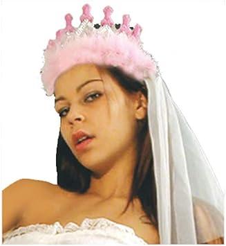 TIARA CORONA SPOSA BRIDE TO BE ADDIO AL NUBILATO SCHERZO DIVERTENTE