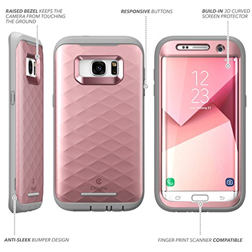 promo code 57962 a7d5c Galaxy S7 Edge Case, Clayco [Hera Series] Full-Body Rugged Case with  Built-in Screen Protector for Samsung Galaxy S7 Edge (2016 Release)  (Rosegold)