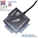 CoolGear® Universal Sata Drive Adapter for all SATA Drives with Power Adapter