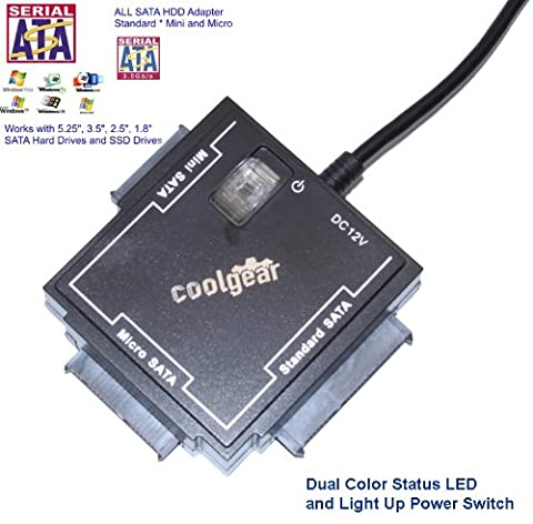 CoolGear Universal Sata Drive Adapter for all SATA Drives with Power Adapter (Ss Hard Disk)