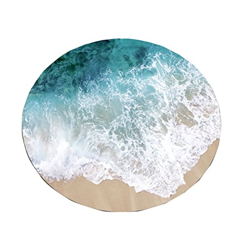 - AiseBeau Comfort Flannel Cartoon Printing Round Floor Rug Comfort Round Kitchen Floor Mat Non-Slip Round Floor Mat Soft Entrance Mat Door Mat Round Floor Rug Area Rug For Chair Living Room 2'
