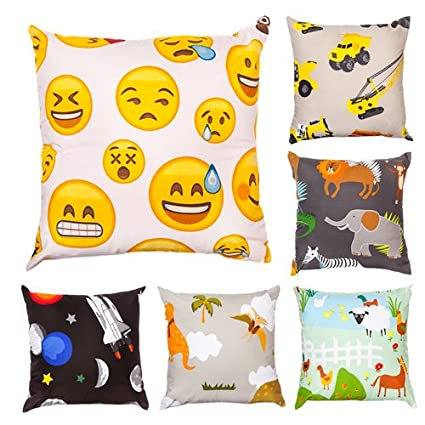 Children's 18 Polycotton Scatter Cushion - Africa Design Shopisfy