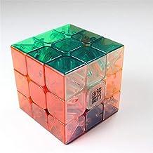 GoodPlay YJ Yongjun Yulong 3x3x3 Stickerless Speed Cube Puzzle 3D Intelligence Smooth Brain Teaser Twist Puzzle Transparent + One Cube Tripod