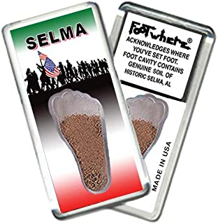 product image for Selma, AL FootWhere Souvenir Fridge Magnet. Made in USA (SLM203 - Marching On)