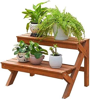chishizhenxiang Soporte para Plantas en macetas Soporte para agarraderas para el jardín Interior Sala de Estar al Aire Libre Terraza Decoración para bonsái, 60x; 37x; 40cm: Amazon.es: Hogar