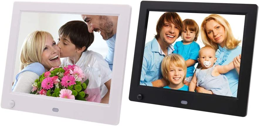YXCM Video Picture Frame 8-Inch HD Digital Photo Frame X10H Non-WiFi Digital Photo Frame with 16:10 IPS Display Body Sensor USB and SD Card Slot and Remote Control,Black