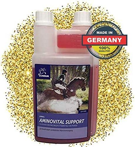 EMMA ♥ Aminoácido para Caballos alimento para Caballos suplemento, alimenticio líquido para el Suministro rápido de aminoácidos + vitaminas, 1 litro