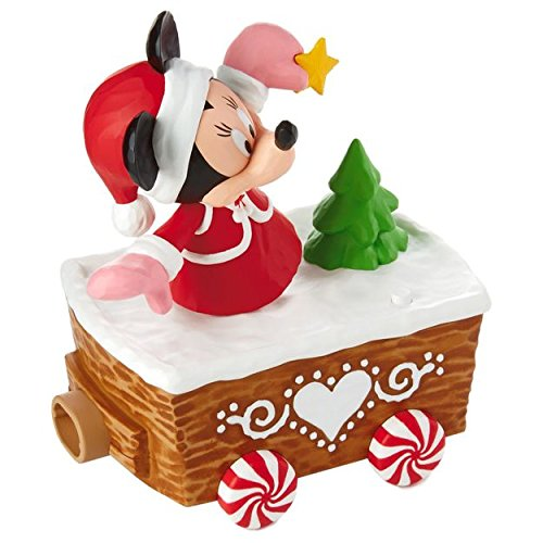 Holiday Train Ornaments (Hallmark XKT2133 Disney Christmas Express, Minnie Mouse Train Accessories)