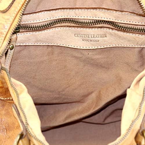 BZNA Bag Roma Beige Italy Longue bandoulière amovible pour femme
