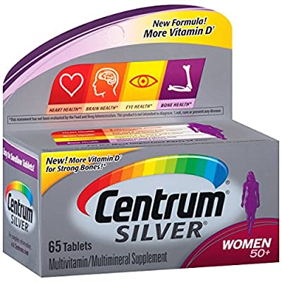 Centrum Silver Women (65 Count) Multivitamin / Multimineral Supplement Tablet, Vitamin D3, Age 50+