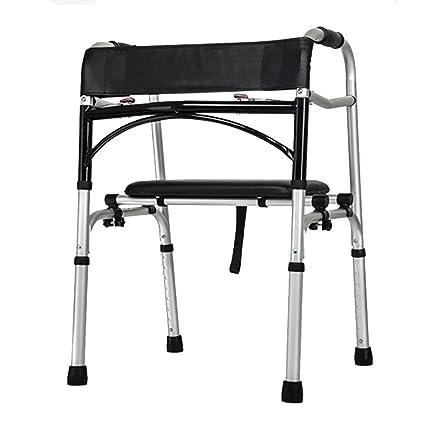 Amazon.com: Elderly Walking Frame Aluminum Alloy Not Top Back Two ...