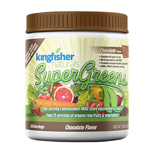 Chocolate Flavored SuperGreens - Contains 50 Super Foods, Certified Vegan, 30 Day Supply
